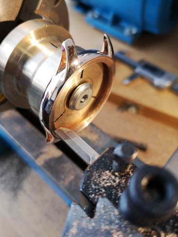 Red gold case engine turning